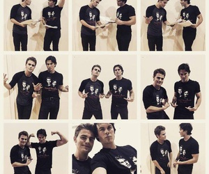 paul wesley, ian somerhalder, and tvd image