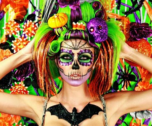 Halloween, color, and day of the dead image