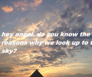 Lyrics, sky, and hey angel image