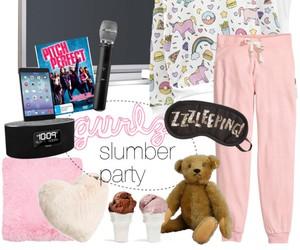girls, pajamas, and party image