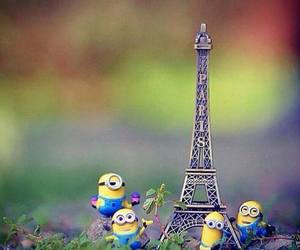 minions, paris, and yellow image