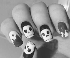 nails and skull image