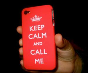 keep calm, call me, and iphone image