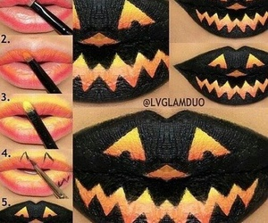 Halloween, lips, and lipstick image