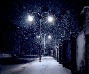 blue, night, and snow image