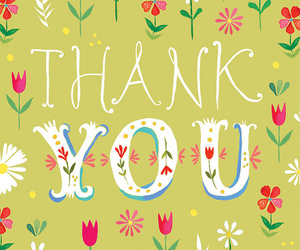 flowers and thank you image