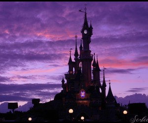 castle, disney, and theme park image