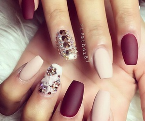 color, fall, and nails image
