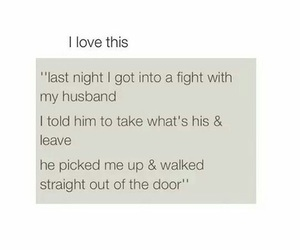 love, husband, and fight image