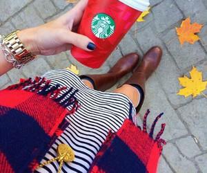 starbucks, autumn, and fashion image