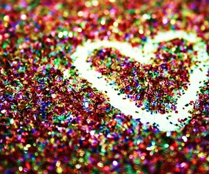 heart, glitter, and sparkle image