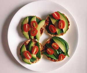 avocado, cherry, and vegan image