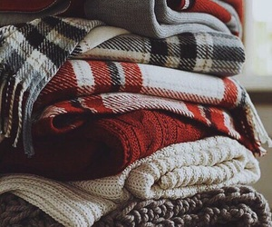 winter, sweater, and scarf image