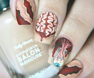 brain, Halloween, and nails image
