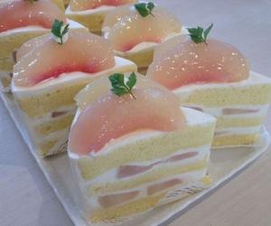 cake, food, and peach image