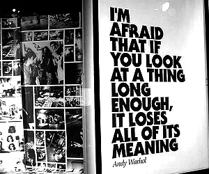 andy warhol, black and white, and quotes image