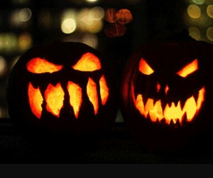 bat, pumpkin, and witch image