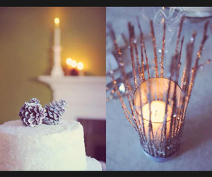 cake, candles, and centerpieces image
