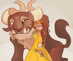 beast, disney, and belle image