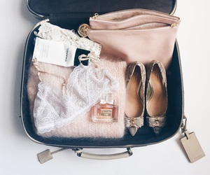 travel, chanel, and pink image