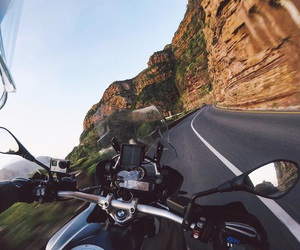 motorcycle, road, and nike image