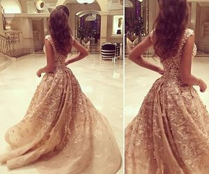 dress, beautiful, and hair image