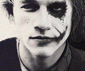 joker, heath ledger, and black and white image