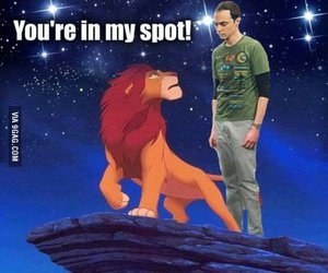 funny, sheldon, and lion king image