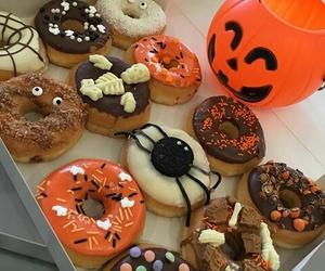 donut, food, and Halloween image