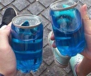 blue, drink, and grunge image