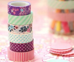washi tape and pink image