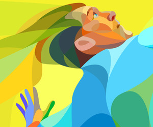 brazil, color theory, and illustration image