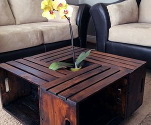 diy, brown, and table image