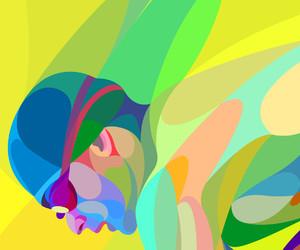 curves, diver, and illustration image