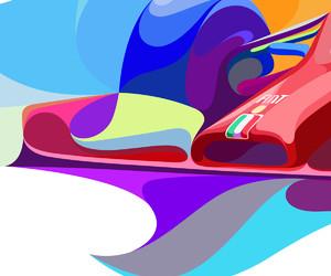 color theory, ferrari, and fine arts image