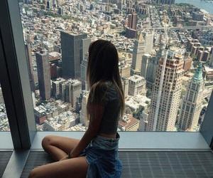 girl, city, and tumblr image