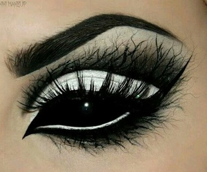 makeup, black, and Halloween image