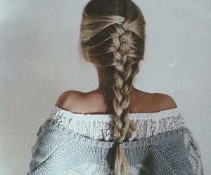 braid, hair, and blonde image