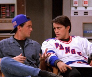 chandler bing, joey tribbiani, and 90s image