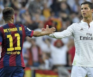 neymar, cristiano, and real madrid image