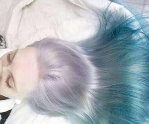 hair, pale, and blue image