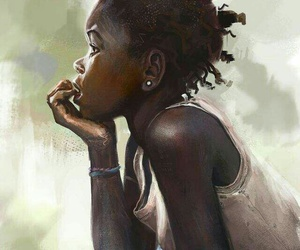 african american, art, and girl image