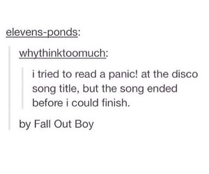 fall out boy, panic! at the disco, and tumblr image