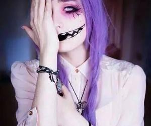 hair, Halloween, and makeup image