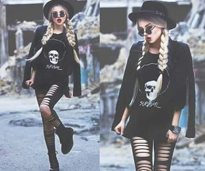 black, fashion, and girl image