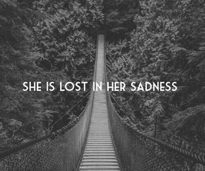 sadness, lost, and sad image