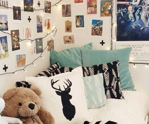 bedroom, cozy, and decor image