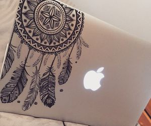 apple, macbook, and dreamcatcher image
