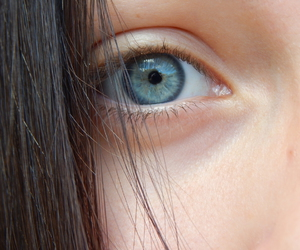 blue, blue eye, and girl image
