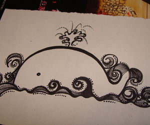 drawing, draw, and whale image